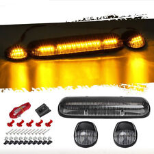 3PCS Smoke Cover Amber 30 LED Cab Roof Top Marker Lights for 02-07 Chevrolet/GMC