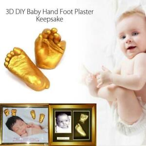 3D Hand Foot Print Mold For Baby Powder Plaster Memorial For Baby Casting E8Y9