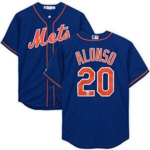 PETE ALONSO Autographed New York Mets Blue Majestic Jersey FANATICS