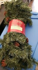 Holiday Living Scottsdale Garland Christmas Decorative Motif, With Pine Cones!