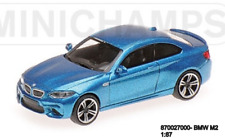 MINICHAMPS 870027000-  BMW M2 – 2016 – BLUE METALLIC - 1:87  Neu