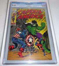 Captain America #110 CGC Universal Grade Comic 9.0 Hulk Appearance 1st M. Hydra