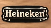 "Heineken Beer Jacket Patch Embroidered Ale 9-1/4"" inches Vintage New Old Stock"