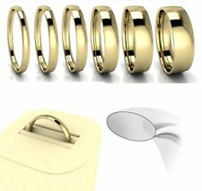 Brand New Hallmarked 18ct Yellow Gold Court Shaped Comfort Fit Wedding Ring Band