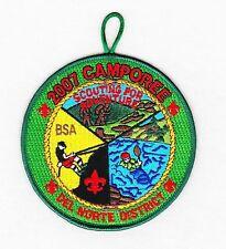 BSA mint 2007 Los Padres Council Del Norte District Camporee Calif. event patch