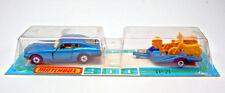 Matchbox TP-21 Datsun & Motorcycle Trailer met. blue mint rare french blister