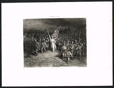 1890's Antique Marseillaise French National Anthem Dore Art Photogravure Print