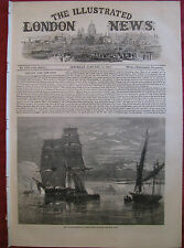 ILLUSTRATED LONDON NEWS 1860 Riff Pirates Normandy Alicante Spain Lord Macaulay