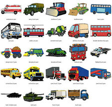 CARS /TRANSPORT COLL #1- LD MACHINE EMBROIDERY DESIGNS