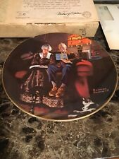 Collectible Plate -Evenings Ease By Norman Rockwell 4th Plate Coa