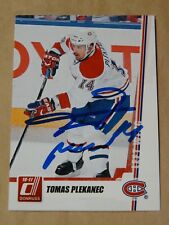 Tomas Plekanec Montreal Canadiens autographed card #2
