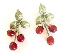Morello Cherry Triple Drop Post Earring by Michael Michaud for Silver Seasons