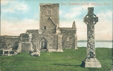 Iona cathedral and St martin's cross 1909 valentine