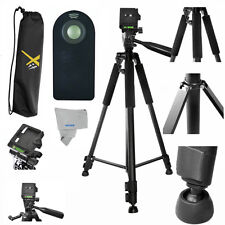 """60"""" PRO LIGHT WEIGHT TRIPOD + REMOTE FOR CANON POWERSHOT SX410 IS SX60 HS SX450"""