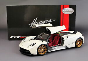 1/18 Scale Pagani Huayra White Diecast Car Model Toy Collection GT Autos
