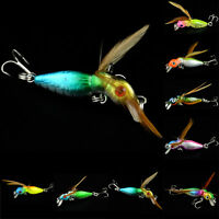New 8-Color Insects Cicada 4.5Cm Float Baits Fishing Lures Bass Crank Baits