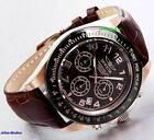 Invicta Men's Speedway Quartz Chronograph Brown Dial Brown Leather Luxury Watch