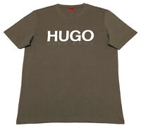 Hugo Boss Men's Logo T shirt Crew Neck Regular Fit in Brown size L