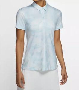 Nike Women's Dri-FIT UV40+ Printed Golf Polo Shirt Sz. Medium NEW CI9821-449