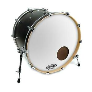 Evans EQ3 Resonant Smooth White Bass Drum Head, 20 Inch *SKIN ONLY*