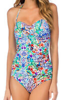 La Blanca Molded Padding Bra Bandeau Two Piece Tankini Swimsuit Swimwear 4 Nwd
