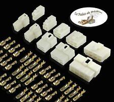 Kit Connecteur électrique 1/2/3/4/6/8 Voies-Terminal 6.3mm-Auto Moto Bateau Quad