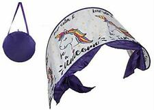 Pop Up Magical Unicorn Bed Canopy - Dream Screen Bed Tunnel Tent Age 3+ (ES447)