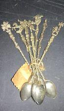 New listing Antique Vintage Ice Tea Ornate Spoon Lot (7) Estate Find Italy Horse Cherub God