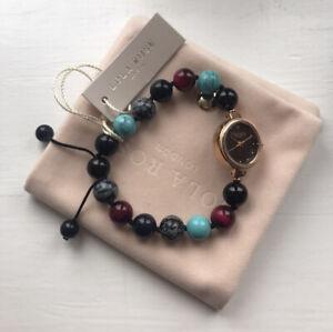 Lola Rose Semi Precious Armband-blau Sandstein Mix (Neu mit Etui)