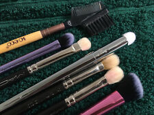 make up brushes set of 7, gently used 3x REAL TECHNIQUES RT 3x MAC 1x SO ECO
