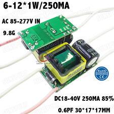 5PCS AC85-277V 10W LED Driver 6-12x1W 250mA DC18-40V Constant Current 6-12PCS 1W