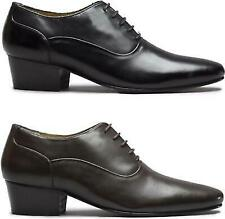 Club Cubano TONI Mens Real Leather Cuban Heel Lace Up Formal Evening Smart Shoes