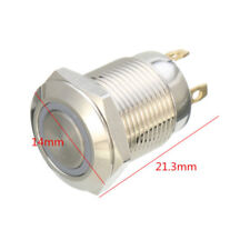 Chrom 4 Pin 12mm Led Licht Metall Push Button Momentary Switch Wasserdicht IP67
