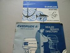Evenrude Dealer Service Directory and Log and Safety Handbook 1970's