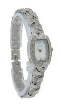 Elgin EG172N Women's Mother of Pearl Crystal Tonneau Analog Watch