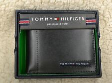 Tommy Hilfiger Men's Leather Credit Card Wallet Billfold Black