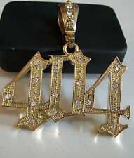 Gold finish hip hop bling fashion  with CZ 404 Rapper style pendant