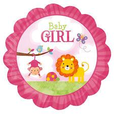 "12"" Low Elevation Baby Girl Safari Balloon Party Decoration Lion Monkey Shower"