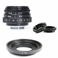 Fujian 35mm F/1.6 CCTV Cine Lens ll for Fujifilm X Mount Cameras X-Pro1 XT1 XT2