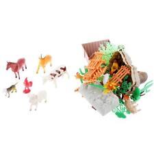 75 PCS miniatura de juguete de plástico de juguete de animales de granja de