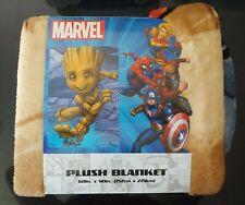 "Marvel Soft Plush Over-sized Throw Blanket 60""x90"" Groot - Brand New"