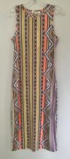 Soft Jersey Aztec Neon Bodycon Sleeveless Midi Dress by GLAMOROUS UK 10
