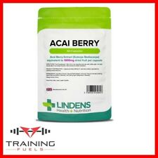 Lindens Acai Berry 1000mg 60 Capsules Weight Loss Fat Burner Detox