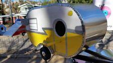 Vintage Style 1960's Shasta Birdhouse - Retro Camper Birdhouse-Yellow