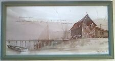FRAMED WATERCOLOR SIGNED BY DAVID BAILEY