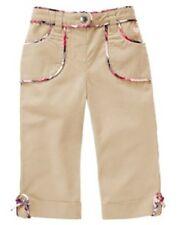 NWT girls 5T gymboree NEW YORK GIRL PUPPY SCHOOL khaki cuff PANTS cotton argyle