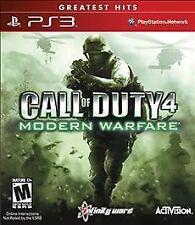 Call of Duty 4: Modern Warfare - Greatest Hits (Sony PlayStation 3, 2010) manual