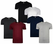 Smith & Jones New Men's Plain Basic Cotton Crew Neck T-Shirt Top 2-Pack