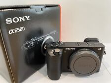 Sony Alpha a6500 24.2MP Digital Camera - Black (Body Only, Mint, Rarely Used)