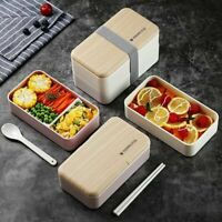 Microwave Lunch Box Japanese Wood Bento Box Portable Container Storage Picnic